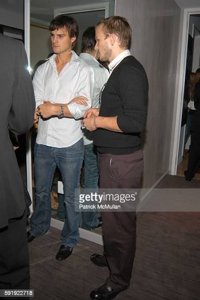 Kane Emenera and Heath Ledger attend Oxfam America Charity Event at 'Esquire Downtown' at Astor Place at Esquire Downtown at Astor Place on October 7...
