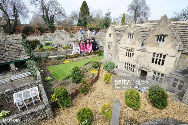 Kane Erin Ceri and Kylen Roberts view the model village in BourtonontheWater in the Cotswold which has been given Grade II listed status