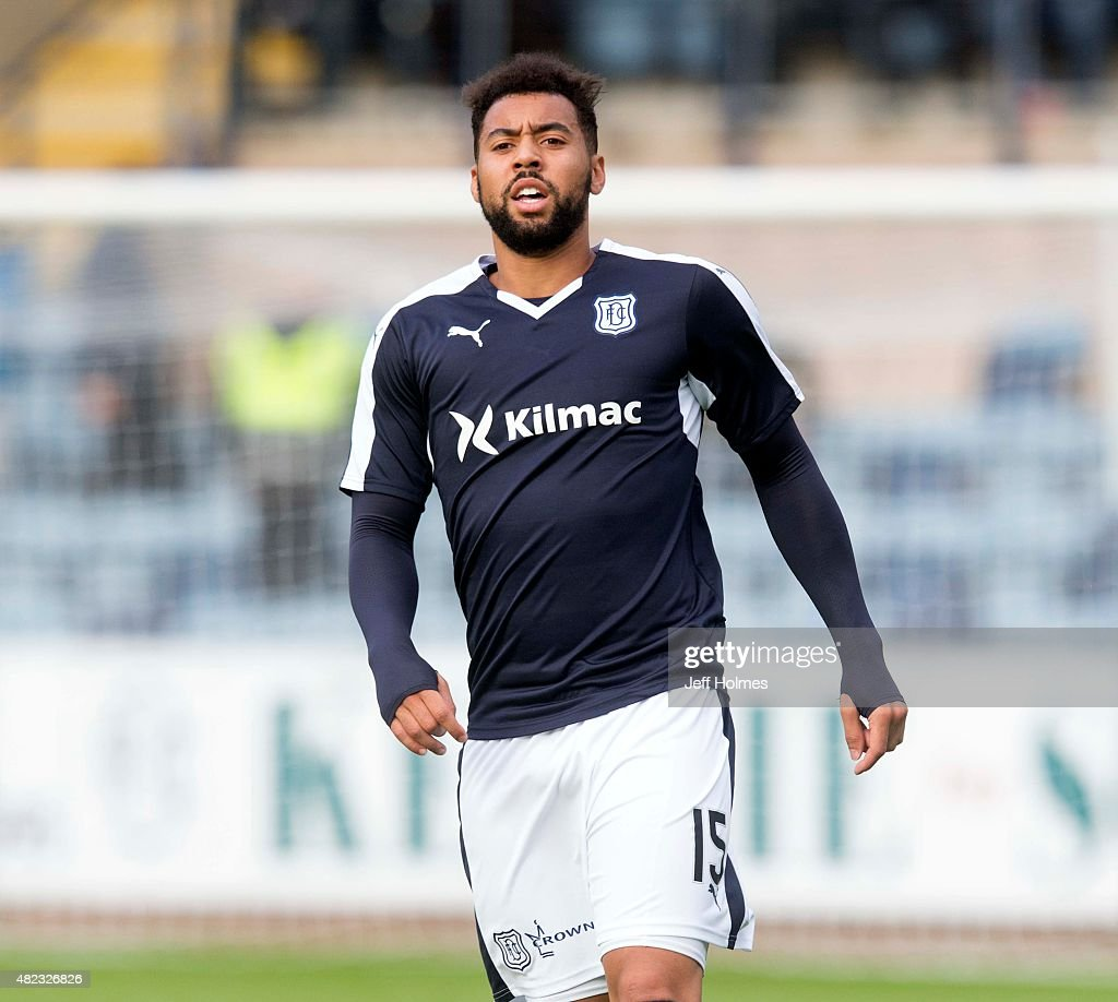 Kane Hemmings for Dundee at the Pre Season Friendly between Dundee and Everton at Dens Park on July 28th 2015 in Dundee Scotland