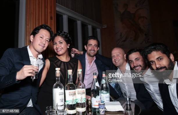 Kane Lee and guests attend the 2017 Tribeca Film Festival 'Rainbow Crow' premier party at the Top of the Standard on April 23 2017 in New York City