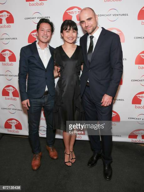 Kane Lee Nanne Takata and Bjarne Jonasson attends the 2017 Tribeca Film Festival 'Rainbow Crow' premier party at the Top of the Standard on April 23...