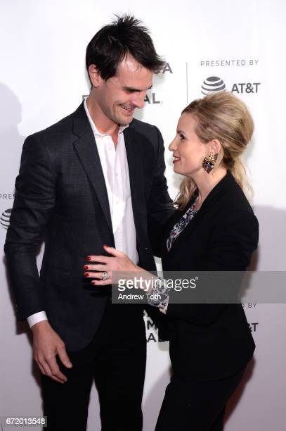 Kane Manera and Kate Ledger attend the 'I Am Heath Ledger' premiere during the 2017 Tribeca Film Festival at Spring Studios on April 23 2017 in New...