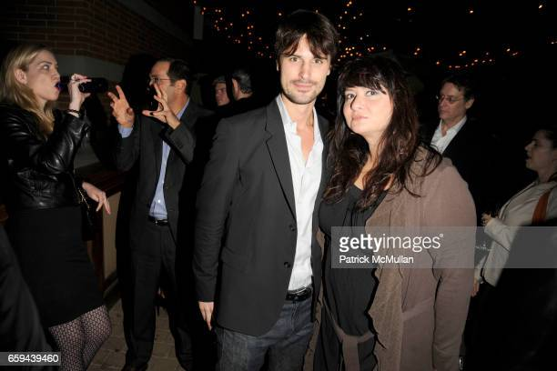 Kane Manera and Liz Vap attend THE CINEMA SOCIETY LINKS OF LONDON host the after party for 'THE INVENTION OF LYING' at Soho Grand Hotel on September...