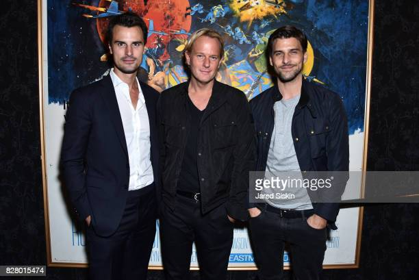 Kane Manera Daniel Benedict and Johannes Huebl attend Neon hosts the after party for the New York Premiere of 'Ingrid Goes West' at Alamo Drafthouse...
