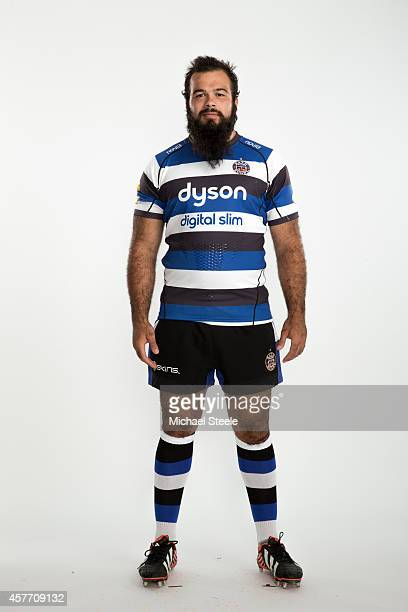 Kane Newport of Bath poses for a picture during the BT Photo Shoot at Farleigh House on August 28 2014 in Bath England