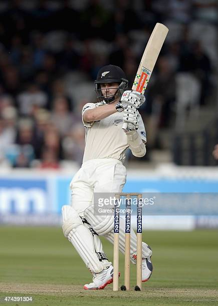 Kane Williamson of New Zealand bats during day two of 1st Investec Test match between England and New Zealand at Lord's Cricket Ground on May 22 2015...