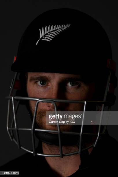 Kane Williamson of New Zealand poses for a portrait at the team hotel on May 25 2017 in London England
