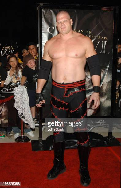 Kane WWE Raw Superstar during 'See No Evil' Premiere Arrivals in Los Angeles California United States
