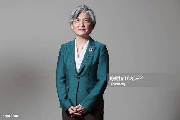 Kang Kyungwha South Korea's foreign minister poses for a photograph following a Bloomberg Television interview on the sidelines of the AsiaPacific...