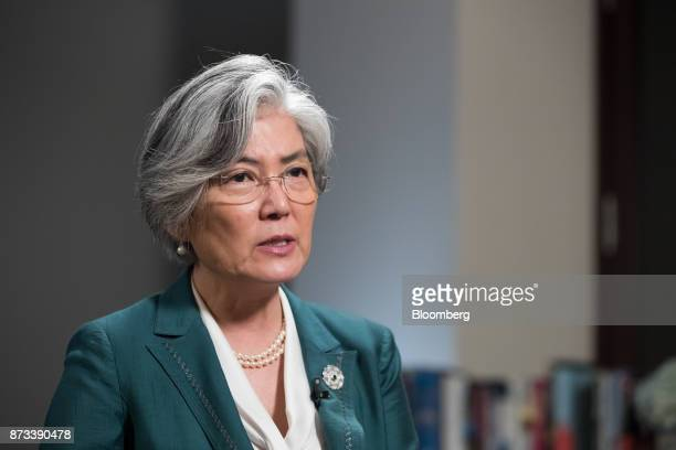 Kang Kyungwha South Korea's foreign minister speaks during a Bloomberg Television interview on the sidelines of the AsiaPacific Economic Cooperation...