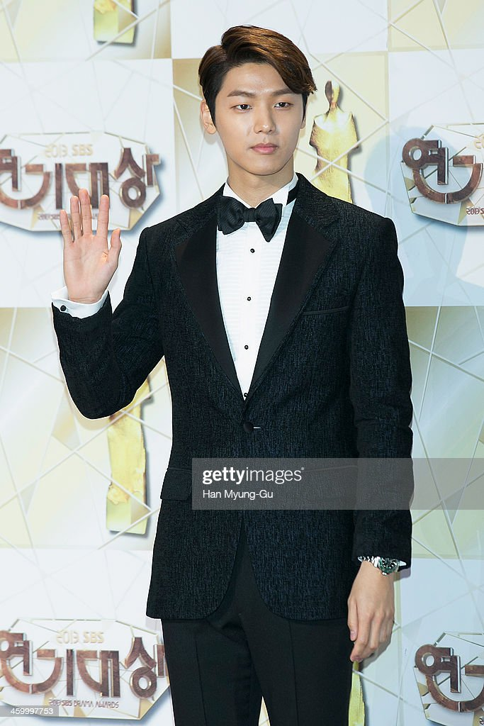 Kang Min-Hyuk of South Korean boy band CNBLUE attends the 2013 SBS Drama Awards at SBS on December 31, 2013 in Seoul, South Korea.