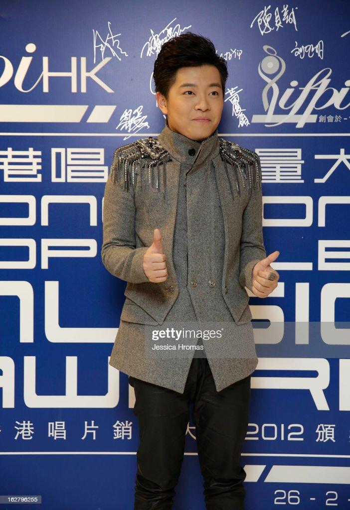 Kang Shuaike Sharco at the 2013 IFPI Hong Kong Top Sales Music Awards at Star Hall on February 26, 2013 in Hong Kong, Hong Kong.