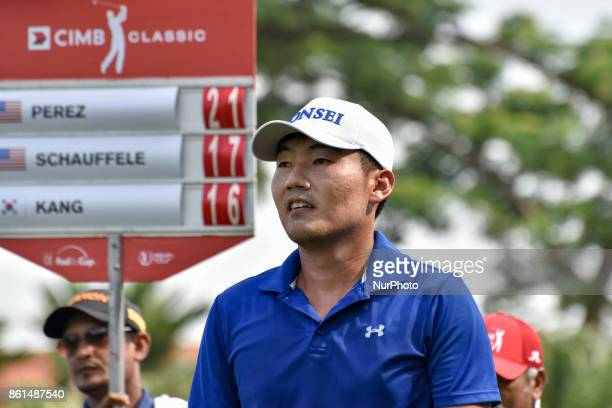 Kang Sunghoon of South Korea in action during the CIMB Classic 2017 day 4 on October 15 2017 at TPC Kuala Lumpur Malaysia