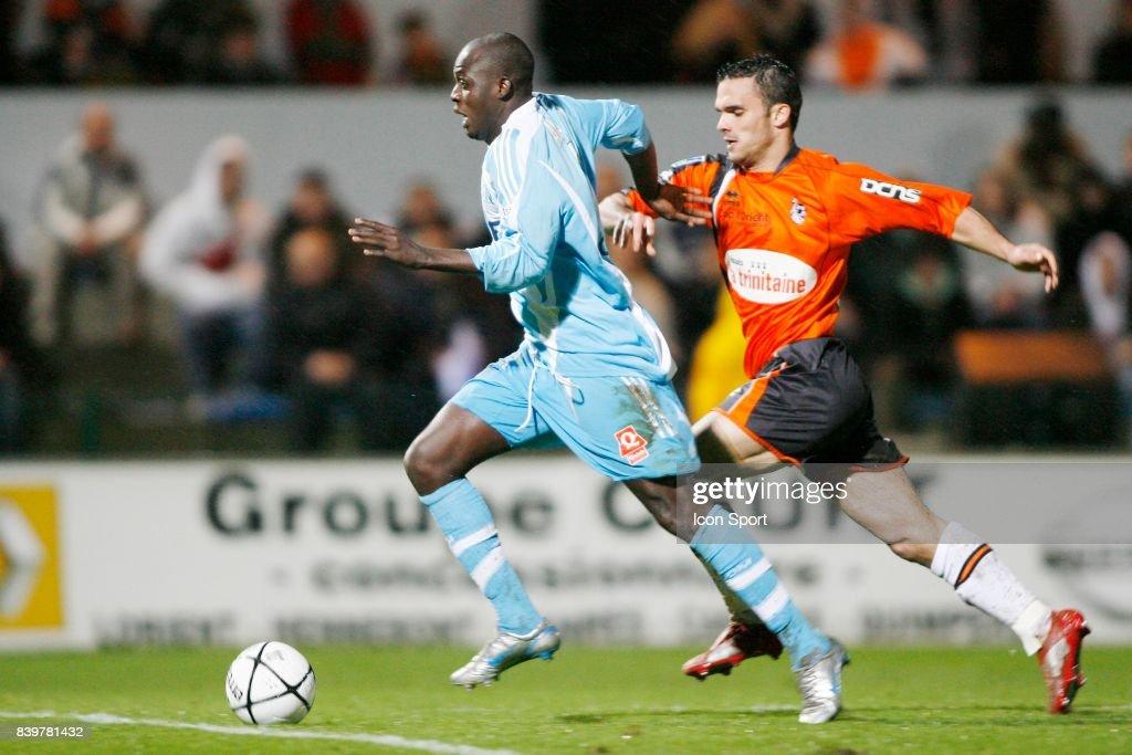 Kanga AKALE / Jeremy MOREL - - Lorient / Marseille - 31eme journee de Ligue 1,