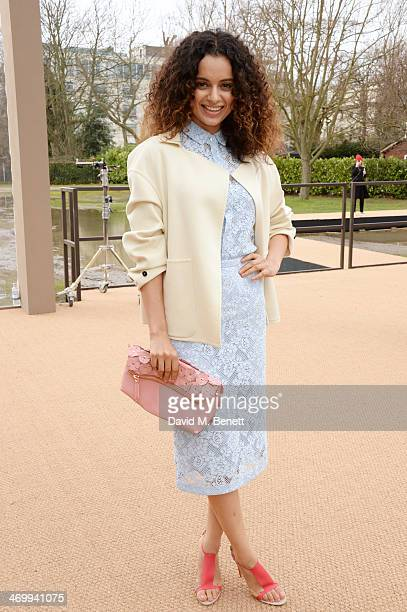 Kangana Ranaut arrives at Burberry Womenswear Autumn/Winter 2014 at Kensington Gardens on February 17 2014 in London England