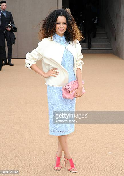 Kangana Ranaut attends the Burberry Prorsum show at London Fashion Week AW14 at Kensington Gardens on February 17 2014 in London England