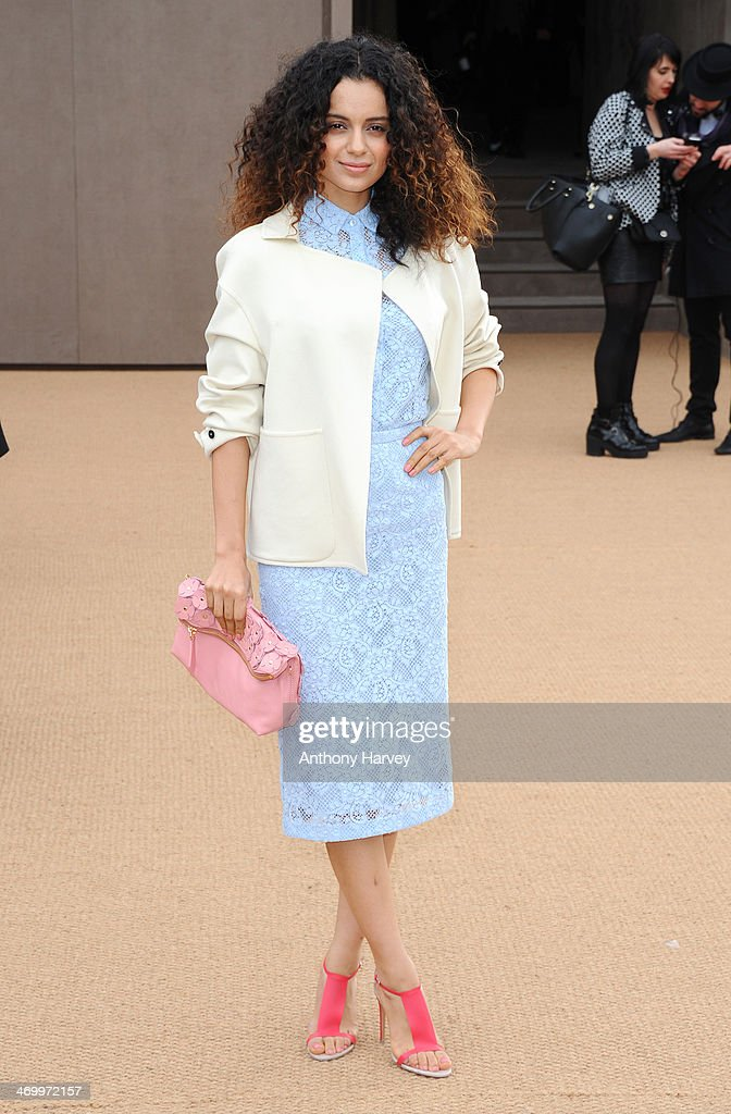 <a gi-track='captionPersonalityLinkClicked' href=/galleries/search?phrase=Kangana+Ranaut&family=editorial&specificpeople=4325041 ng-click='$event.stopPropagation()'>Kangana Ranaut</a> attends the Burberry Prorsum show at London Fashion Week AW14 at Kensington Gardens on February 17, 2014 in London, England.