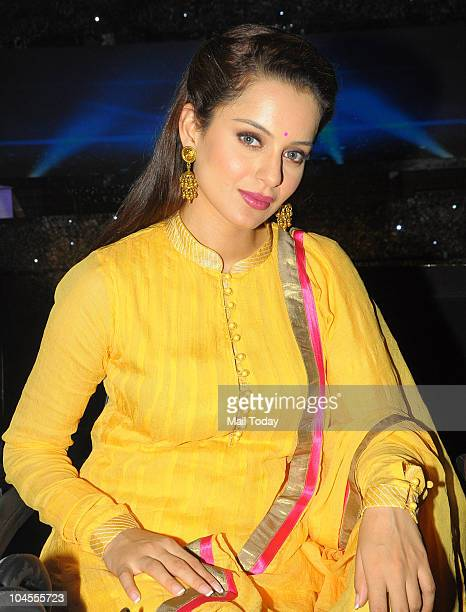 Kangana Ranaut on the sets of the reality show 'Chhote Ustaad' in Mumbai on September 27 2010