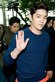 Kangin of South Korean boy band Super Junior is seen on departure at Incheon International Airport on March 8 2013 in Incheon South Korea