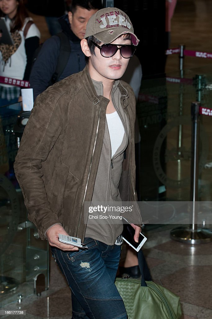 Kangta is seen at Gimpo International Airport on October 25, 2013 in Seoul, South Korea.