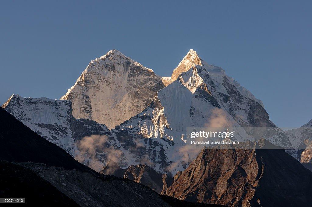 Kangtega mountain peak from Dingboche village