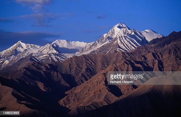 Kangyaze Peak and Zanskar Range in Ladakh.