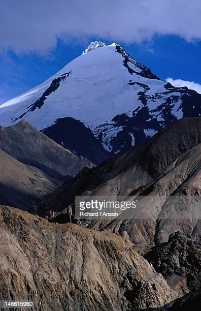 Kangyaze Peak (6400m) in Zanskar Range above Hankar village in Makha Valley in Ladakh.