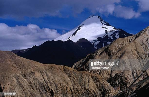 Kangyaze Peak (6400m) in Zanskar Range above Hankar village in Markha Valley in Ladakh.