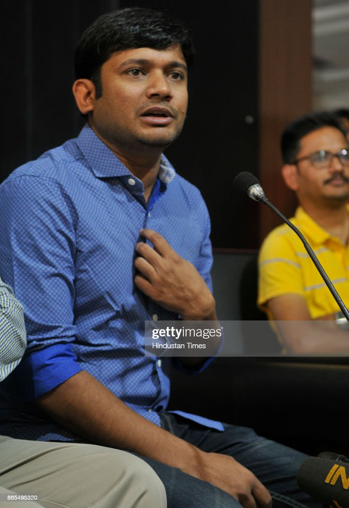 Former JNU President Kanhaiya Kumar Addressing The Media During Rubru Program