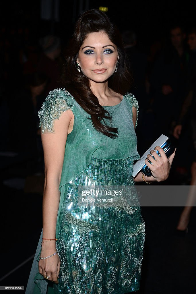 Kanika Kapoor attends the Alberta Ferretti fashion show as part of Milan Fashion Week Womenswear Fall/Winter 2013/14 on February 20, 2013 in Milan, Italy.