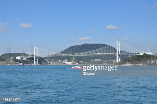 Kan-mon Bridge and sightseeing boat