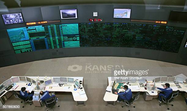 Kansai Electric Power Co staffs monitor at the Central Electricity Provision Control Center after the Takahama Nuclear Power Plant No3 reactor...