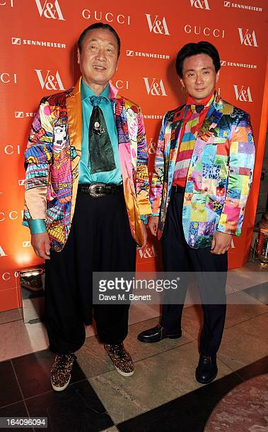 Kansai Yamamoto and Taro Otsuka attend the dinner to celebrate The David Bowie Is exhibition in partnership with Gucci and Sennheiser at the Victoria...