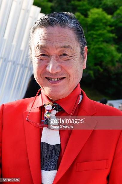 Kansai Yamamoto attends the Louis Vuitton Resort 2018 show at the Miho Museum on May 14 2017 in Koka Japan
