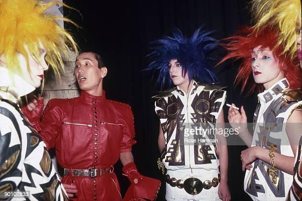 Kansai Yamamoto backstage at 57th St Roller Rink New York '80s