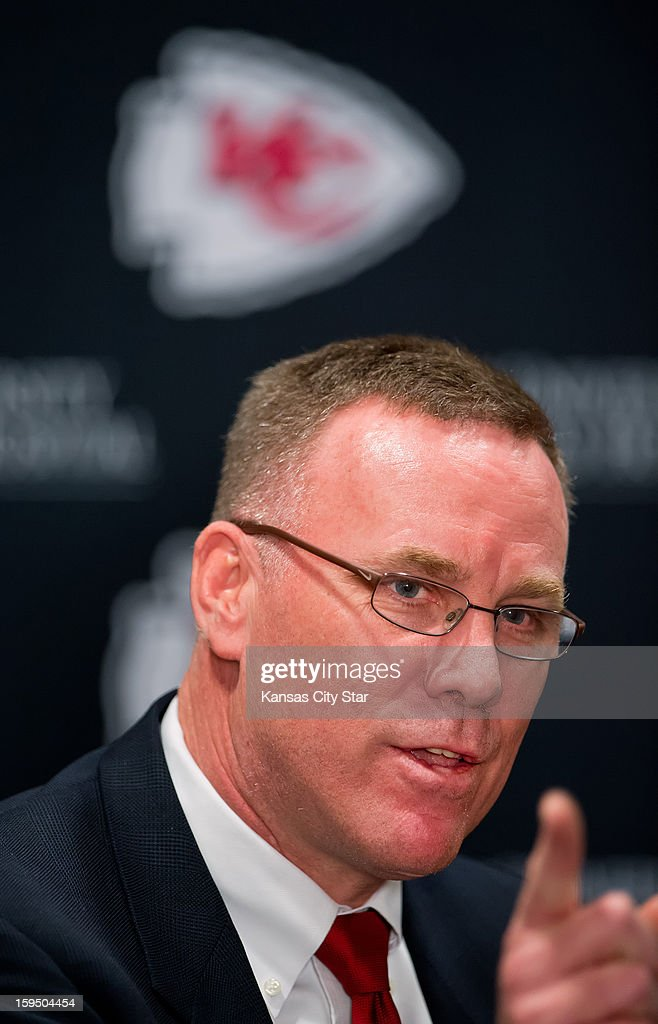 Kansas City Chiefs general manager John Dorsey spoke to the media during his introductory press conference on Monday, January 14, 2013, at the team's practice facility in Kansas City, Missouri. Dorsey moves from the Green Bay packers organization where we was the team's director of football operations.