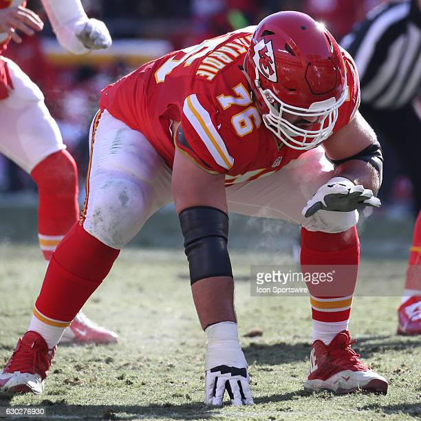 Kansas City Chiefs offensive guard Laurent DuvernayTardif during an NFL game between two divisionleading teams the Tennessee Titans and Kansas City...