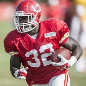 Kansas City Chiefs running back Cyrus Gray during training camp practice at Missouri Western State University in St Joseph Mo on Saturday Aug 2 2014