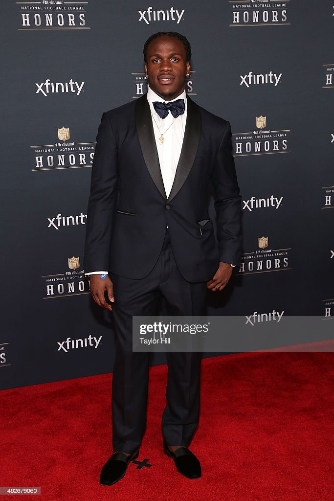 Kansas City Chiefs running back <a gi-track='captionPersonalityLinkClicked' href=/galleries/search?phrase=Jamaal+Charles&family=editorial&specificpeople=2122501 ng-click='$event.stopPropagation()'>Jamaal Charles</a> attends the 2015 NFL Honors at Phoenix Convention Center on January 31, 2015 in Phoenix, Arizona.