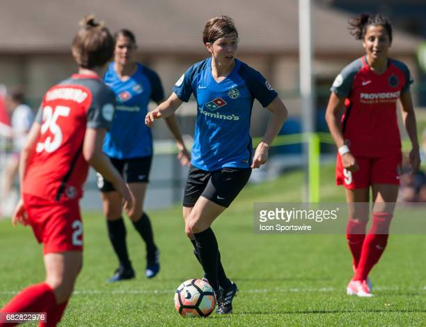 Kansas City Defender Becca Moros looks to mover around the defense during the NWSL match between the Portland Thorns and FC Kansas City on Saturday...