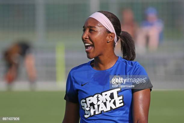 Kansas City defender Brianne Reed before an NWSL match between the Seattle Reign FC and FC Kansas City on June 17 2017 at Children's Mercy Victory...