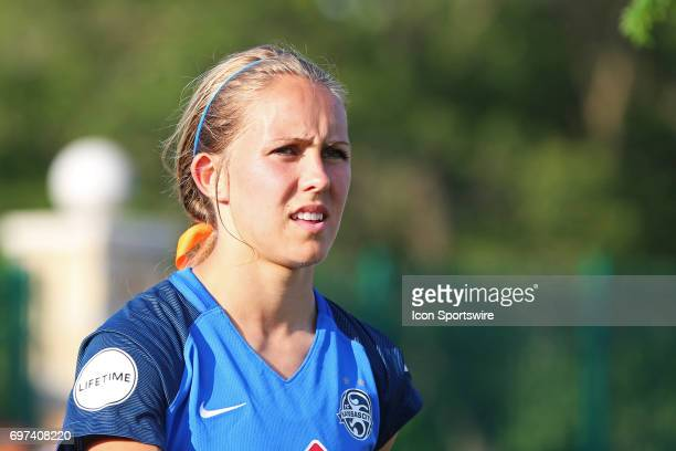 Kansas City forward Brittany Ratcliffe before an NWSL match between the Seattle Reign FC and FC Kansas City on June 17 2017 at Children's Mercy...