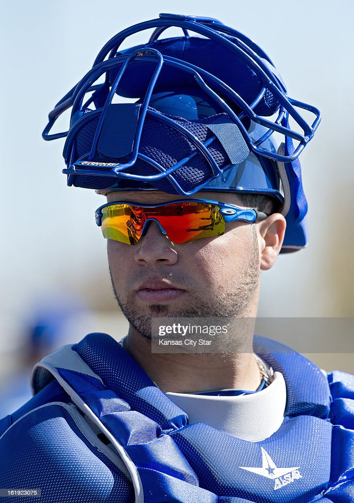 Kansas City Royals catcher Manuel Pina appears during a spring training workout in Surprise, Arizona, Sunday, February 17, 2013.