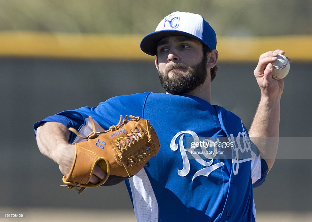 Kansas City Royals pitcher Tim Collins throws during spring training on Thursday, February 14, 2013, in Surprise, Arizona.