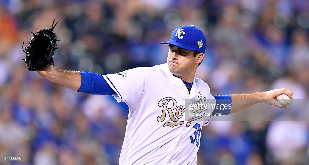 Kansas City Royals relief pitcher Brian Flynn throws in the eighth inning against the Houston Astros on Friday, June 24, 2016, at Kauffman Stadium in Kansas City, Mo.