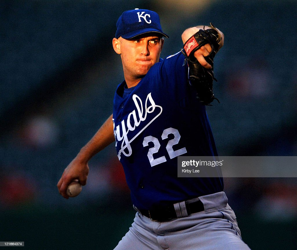 Kansas City Royals starter Bobby Keppel pitches 43 loss to the Los Angeles Angels of Anaheim at Angel Stadium in Anaheim Calif on Monday June 12 2006...