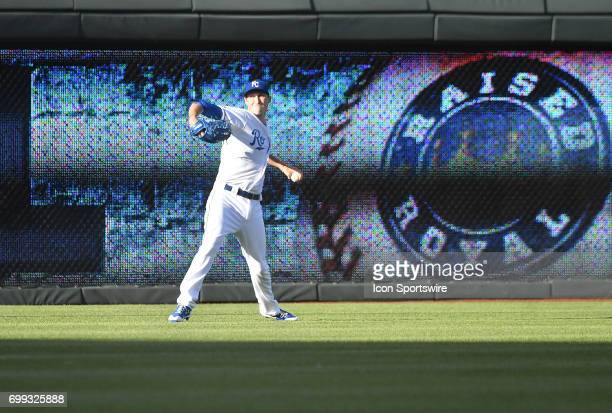 Kansas City Royals starting pitcher Matt Strahm warms up before a MLB game between the Boston Red Sox and the Kansas City Royals June 20 at Kauffman...