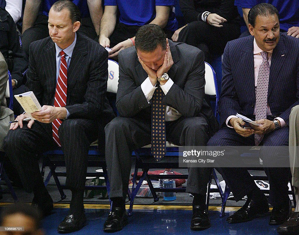 valparaiso v kansas photos and images getty images kansas coach bill self middle reacts in frustration during the jayhawks 79