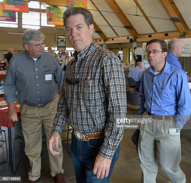 Kansas Governor Sam Brownback attended the Flint Hills Visioning Summit at Camp Wood YMCA in Elmdale Kansas September 2 2015 The fourth Governor's...