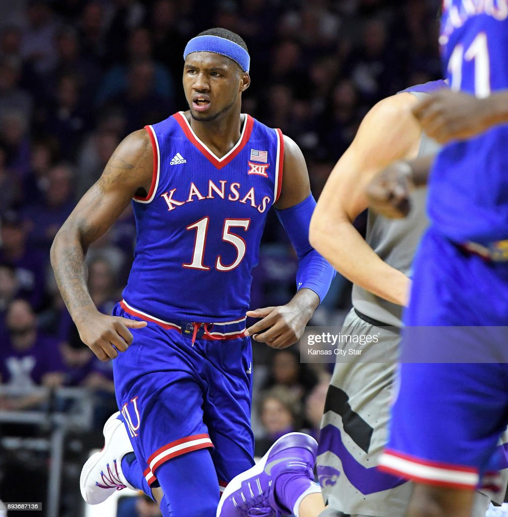 Kansas Jayhawks forward Carlton Bragg Jr. during a basketball game against the Kansas State Wildcats on Monday, Feb. 6, 2017 at Bramlage Coliseum in Manhattan, Kan.